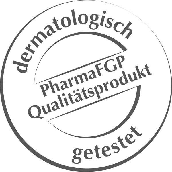 Dermatologisch getestet. PharmaFGP Qualitätsprodukt